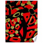 Red artistic design Canvas 12  x 16   16 x12 Canvas - 1