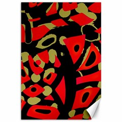 Red Artistic Design Canvas 12  X 18