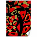 Red artistic design Canvas 12  x 18   18 x12 Canvas - 1
