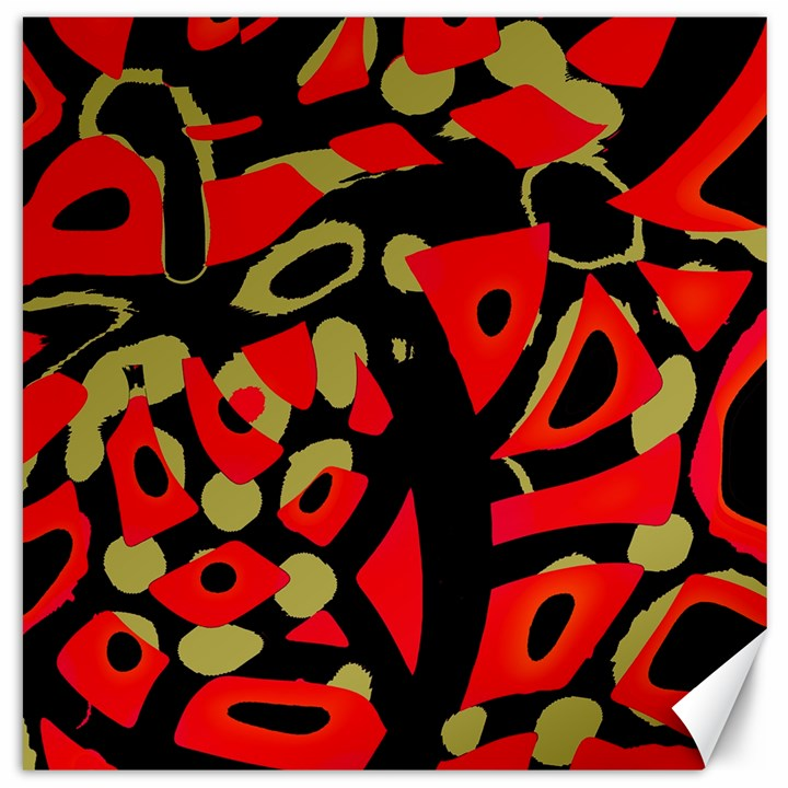 Red artistic design Canvas 16  x 16
