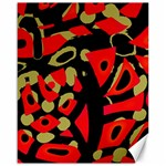 Red artistic design Canvas 16  x 20   20 x16 Canvas - 1