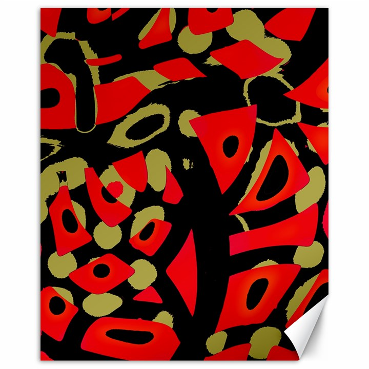 Red artistic design Canvas 16  x 20