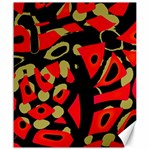 Red artistic design Canvas 20  x 24   24 x20 Canvas - 1