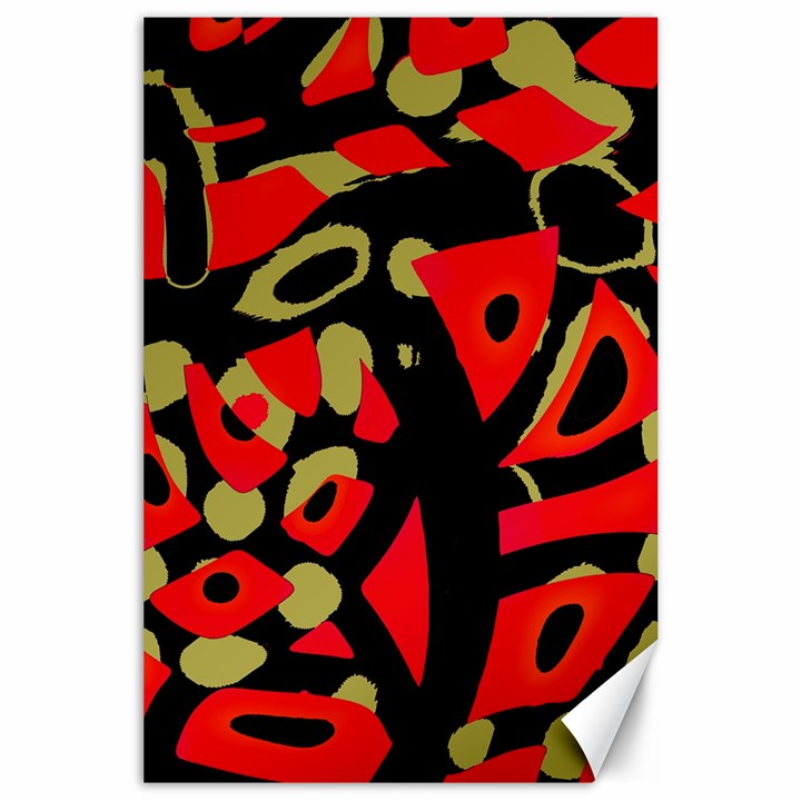 Red artistic design Canvas 24  x 36