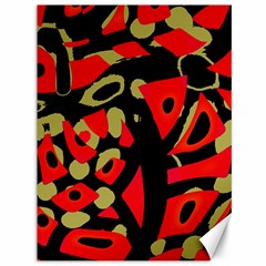 Red artistic design Canvas 36  x 48