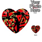Red artistic design Playing Cards 54 (Heart)  Front - HeartQ