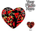 Red artistic design Playing Cards 54 (Heart)  Front - Joker1