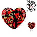 Red artistic design Playing Cards 54 (Heart)  Front - Joker2