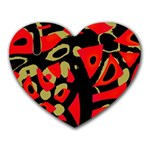 Red artistic design Heart Mousepads Front