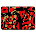 Red artistic design Large Doormat  30 x20 Door Mat - 1