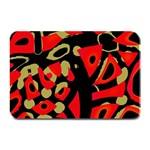 Red artistic design Plate Mats 18 x12 Plate Mat - 1