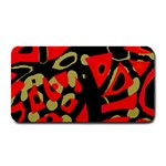 Red artistic design Medium Bar Mats 16 x8.5 Bar Mat - 1