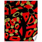 Red artistic design Canvas 11  x 14   14 x11 Canvas - 1