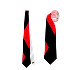 Red artistic design Neckties (Two Side)