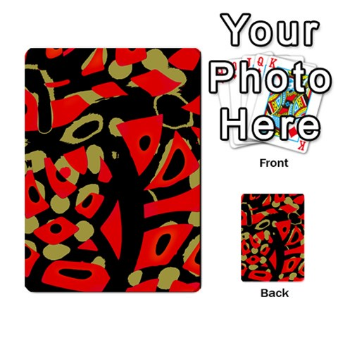 Red artistic design Multi-purpose Cards (Rectangle)