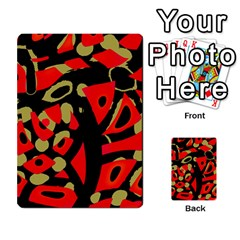 Red Artistic Design Multi Purpose Cards (rectangle)