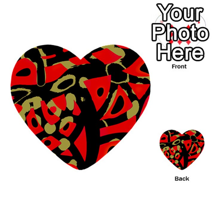 Red artistic design Multi-purpose Cards (Heart)