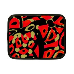 Red artistic design Netbook Case (Small)