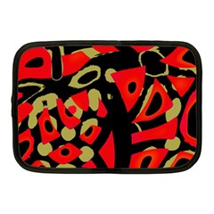 Red Artistic Design Netbook Case (medium)