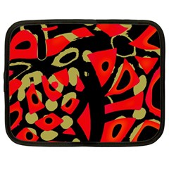 Red Artistic Design Netbook Case (large)
