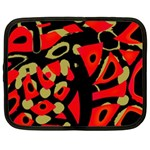 Red artistic design Netbook Case (Large) Front