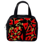 Red artistic design Classic Handbags (One Side) Front