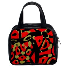Red artistic design Classic Handbags (2 Sides)