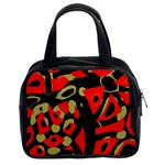 Red artistic design Classic Handbags (2 Sides) Front
