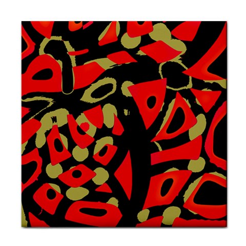 Red artistic design Face Towel