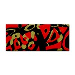 Red artistic design Hand Towel Front