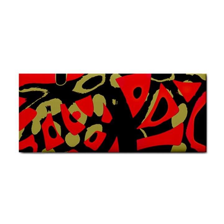 Red artistic design Hand Towel
