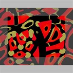 Red artistic design Mini Canvas 7  x 5  7  x 5  x 0.875  Stretched Canvas