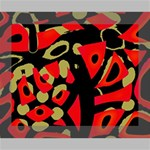 Red artistic design Canvas 10  x 8  10  x 8  x 0.875  Stretched Canvas