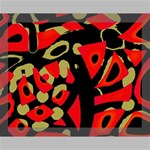 Red artistic design Canvas 14  x 11  14  x 11  x 0.875  Stretched Canvas