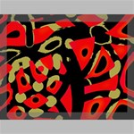 Red artistic design Canvas 16  x 12  16  x 12  x 0.875  Stretched Canvas