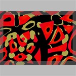 Red artistic design Canvas 18  x 12  18  x 12  x 0.875  Stretched Canvas