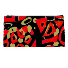 Red artistic design Pencil Cases
