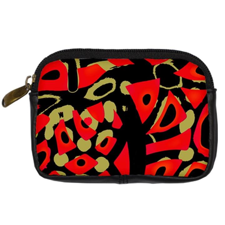 Red artistic design Digital Camera Cases