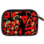 Red artistic design Digital Camera Cases Back