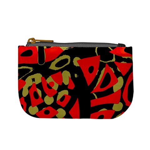 Red artistic design Mini Coin Purses