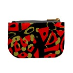 Red artistic design Mini Coin Purses Back