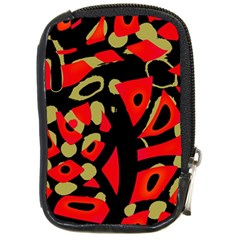 Red artistic design Compact Camera Cases
