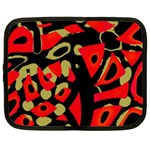 Red artistic design Netbook Case (XXL)  Front