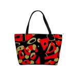 Red artistic design Shoulder Handbags Front
