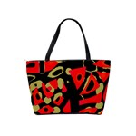 Red artistic design Shoulder Handbags Back