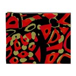 Red artistic design Cosmetic Bag (XL) Front