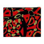 Red artistic design Cosmetic Bag (XL) Back