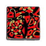 Red artistic design Memory Card Reader (Square) Front