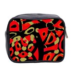 Red artistic design Mini Toiletries Bag 2-Side Back