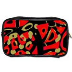 Red artistic design Toiletries Bags Front